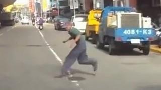 盜壘伯假車禍影片